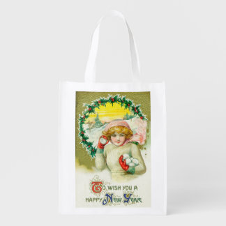 To Wish you a Happy New Year Snowball Fight Market Tote