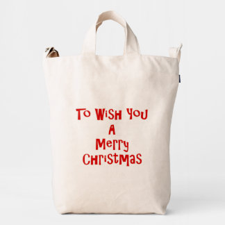 To Wish You A Merry Christmas Duck Bag
