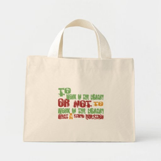 To Work in the Library Mini Tote Bag