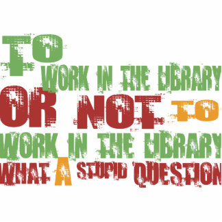 To Work in the Library Photo Sculpture