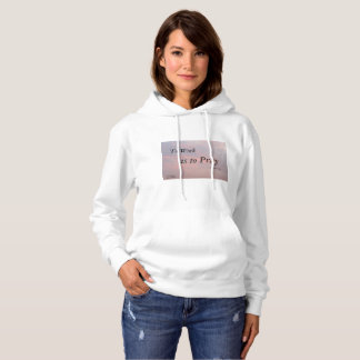 TO WORKS IS TO PRAY SARGENT CLOUD WOMAN'S HOODIE