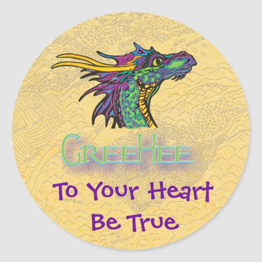 To Your Heart Be True Stickers