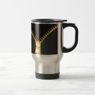 to zipper design travel mug