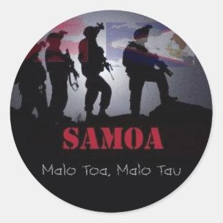 TOA O SAMOA CLASSIC ROUND STICKER
