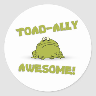 Toad-ally Awesome Classic Round Sticker