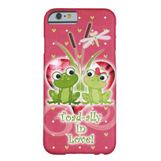 Toad-ally in Love frogs cell phone case. Barely There iPhone 6 Case
