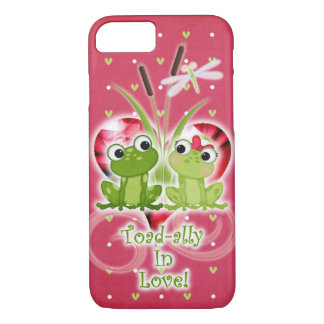 Toad-ally in Love frogs cell phone case. iPhone 7 Case
