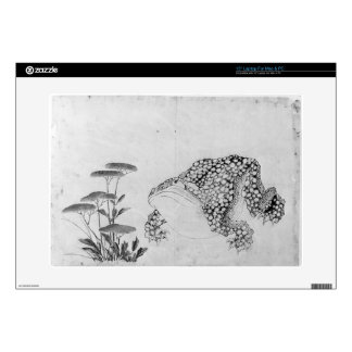 """Toad and Flowers - Japanese (Edo Period) 15"""" Laptop Skin"""