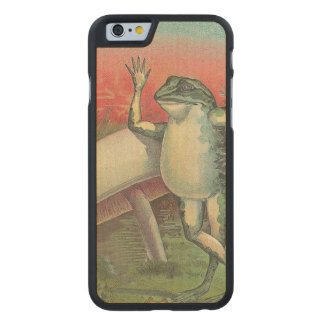 Toad and Mushroom Carved Maple iPhone 6 Slim Case