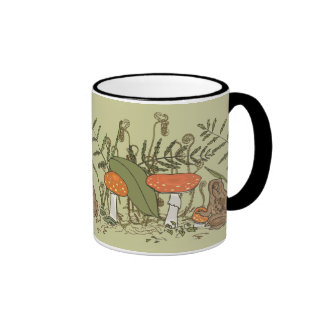 Toad and Toadstools Ringer Coffee Mug
