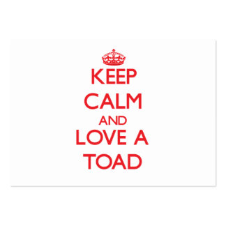 Toad Large Business Cards (Pack Of 100)