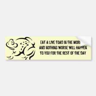 Toad Eater Bumper Sticker
