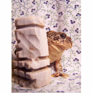 Toad frog marble chess piece prop flowered back acrylic cut outs