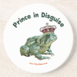 Toad Frog Prince in Disguise Beverage Coasters