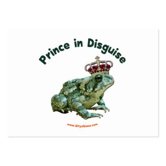 Toad Frog Prince in Disguise Large Business Cards (Pack Of 100)