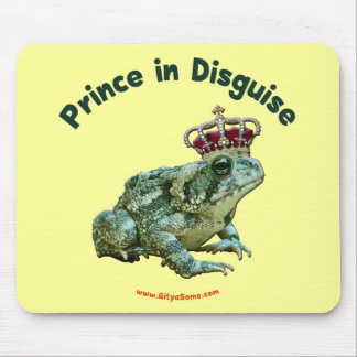 Toad Frog Prince in Disguise Mousepads