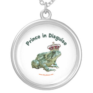 Toad Frog Prince in Disguise Round Pendant Necklace