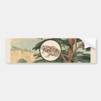 Toad In Natural Habitat Illustration Car Bumper Sticker