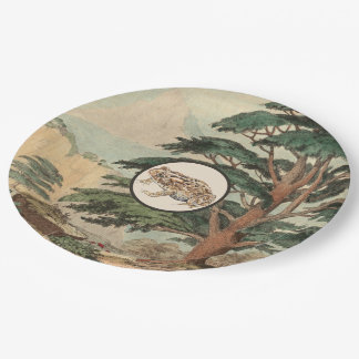 Toad In Natural Habitat Illustration Paper Plate
