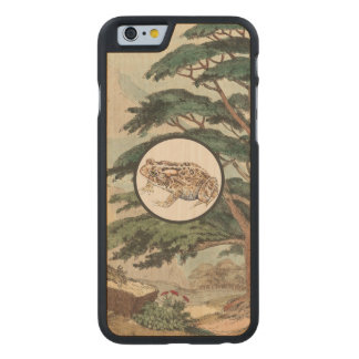 Toad In Natural Habitat Illustration Carved® Maple iPhone 6 Case