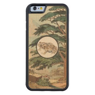 Toad In Natural Habitat Illustration Carved® Maple iPhone 6 Bumper