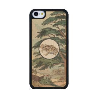Toad In Natural Habitat Illustration Carved® Maple iPhone 5C Slim Case