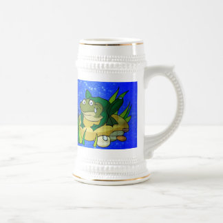 Toad In Pond Beer Stein
