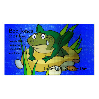 Toad In Pond Double-Sided Standard Business Cards (Pack Of 100)