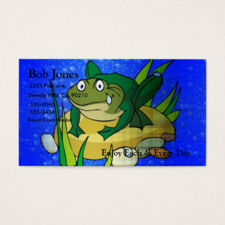 Toad In Pond Business Card