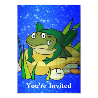 Toad In Pond Card