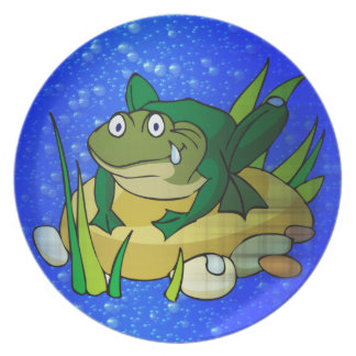 Toad In Pond Dinner Plate