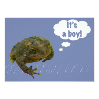 Toad It's a boy! New Baby Announcement