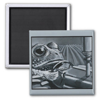 Toad On A Tractor 2 Inch Square Magnet