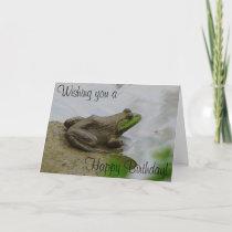 Toad says Happy Birthday! Card