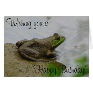 Toad says Happy Birthday! Card