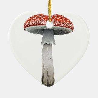 Toad Stool Ceramic Ornament