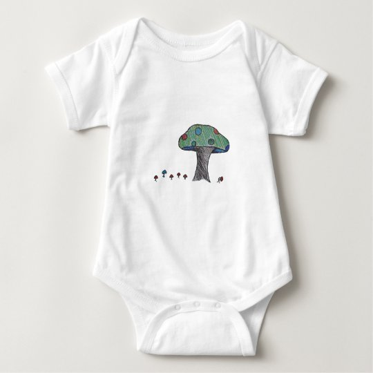 Toad Stool, Mushroom Baby Bodysuit