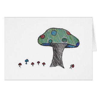 Toad Stool, Mushroom Card