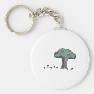 Toad Stool, Mushroom Basic Round Button Keychain