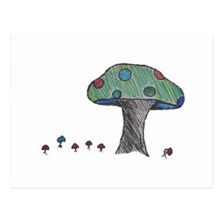 Toad Stool, Mushroom Postcard