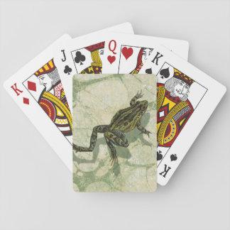 Toad Swinning in the Water Poker Deck