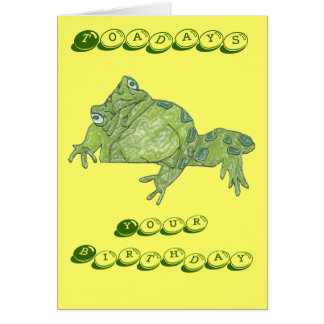 "Toad ""Toadays"" Birthday Card"
