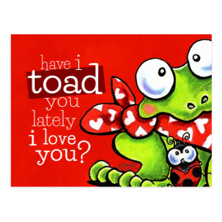 Toad You I Love You Funny Valentine Postcard