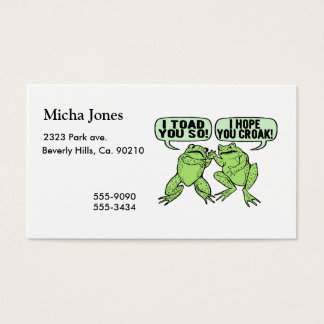 Toad You So Business Card