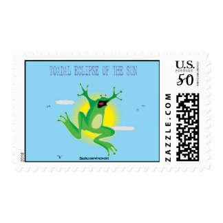 Toadal Eclipse of the Sun Postage