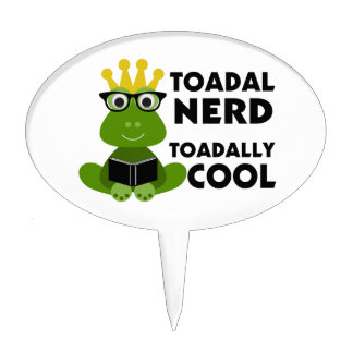 Toadal Nerd Toadally Cool Cake Topper