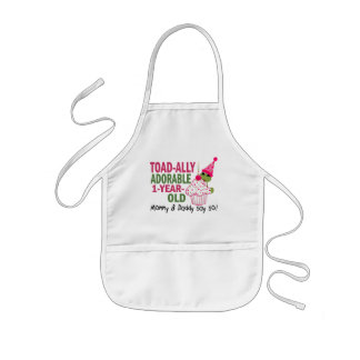 Toadally Adorable 1-Year Old Kids' Apron