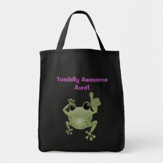 Toadally Awesome Aunt! Canvas Bags