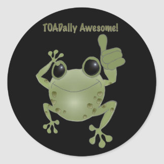 Toadally Awesome! Classic Round Sticker