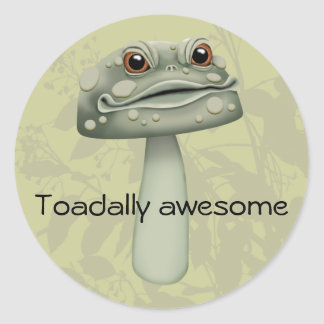 Toadally Awesome Classic Round Sticker